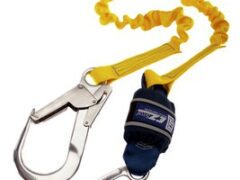 3M™ DBI-SALA® EZ-Stop™ Expander Shock Absorbing Lanyard 1245541, Elasticated Webbing, Single Leg, 2.00 m